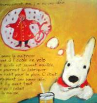 フランス語絵本 Anne Gutman , Georg Hallensleben / Le cadeau de Noel 『リサとガスパールのクリスマス』