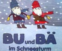 ドイツ語絵本  Olof Landstroem, Lena Landstroem / Bu und Bae im Schneesturm