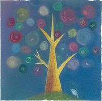 『多幸の木』(パステルアート、15×15センチ)