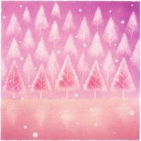 ポストカード1枚150円(パステルアート「妖精の森」)