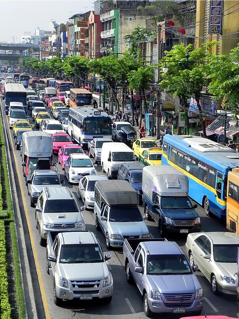 バンコクの渋滞画像
