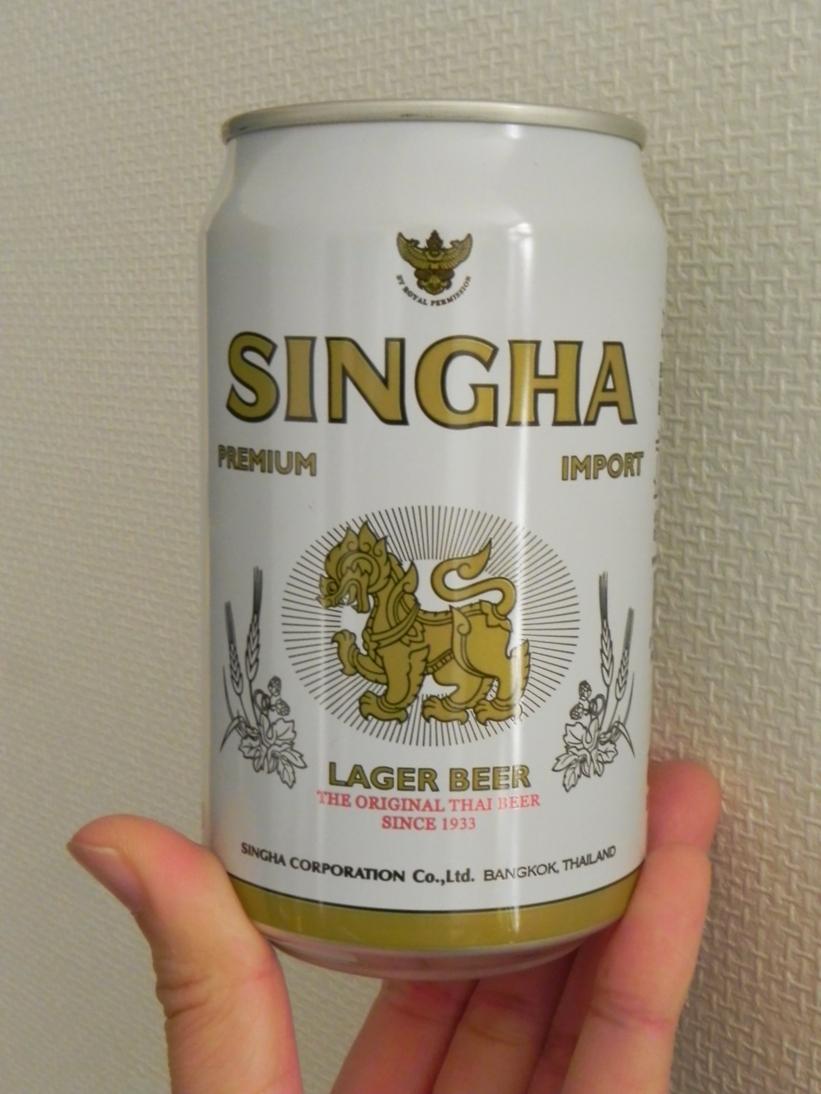 日本でシンハービールを見て思う画像