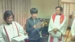 洗礼志願式3 証しをしているところ